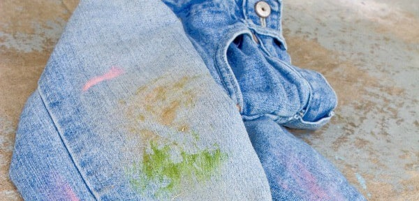 A Pair Of Jeans with Stains